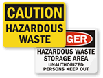 Hazardous Waste Signs