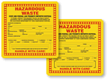 California Hazardous Waste Labels
