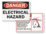 Electric Hazard Labels and Signs