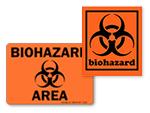 Fluorescent Biohazard Stickers