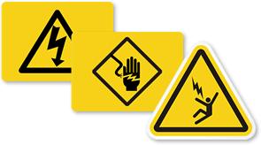 High Voltage Symbols