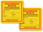 New Jersey Hazardous Waste Labels