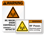 Microwave, MRI, X-Ray Radiation Labels