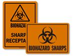 Sharps Warning Labels & Signs