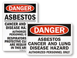 Asbestos Warning Labels