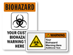 Custom Biohazard Stickers