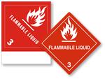 Class 3 Flammable Liquid Labels