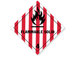 Class 4 Flammable Solid Labels