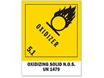 Class 5 Oxidizer Pre-printed Labels