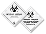 Class 6 Infectious Substance Labels