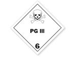 Class 6 PG III HazMat Labels