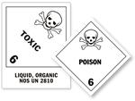 Class 6 Poison Hazmat Labels