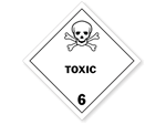 Class 6 Toxic Hazmat Labels