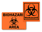 Fluorescent Biohazard Stickers