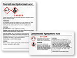 Free Concentrated Hydrochloric Acid Labels