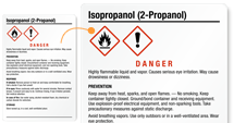 Free Isopropanol Labels