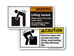 Lifting Hazard Labels