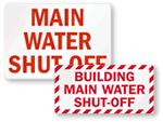 Water Shut-off Label