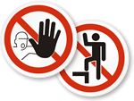 ISO Prohibited Actions Labels