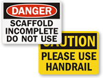 Ladder Safety Signs | Scaffold Safety Signs