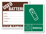 Waste Battery Labels