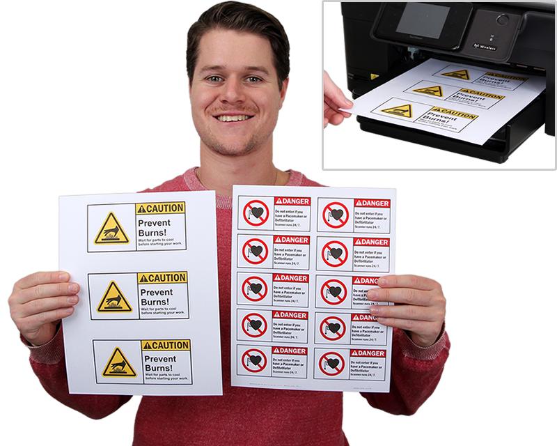 Laser Printer Safety Labels Blank Label Stationery