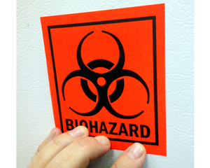 Biohazard Sticker