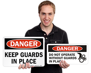 Do Not Operate Without Guards Labels