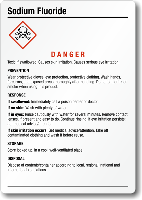 Sodium Fluoride Ghs Labels