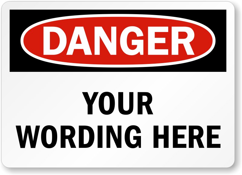 Osha Safety Labels Danger Warning And Caution Labels