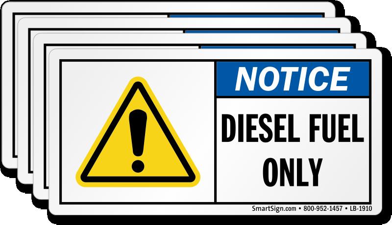 Diesel Fuel Only Label, SKU: LB-1910