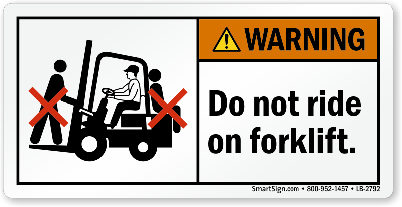 Fork Lift Labels : Forklift safety labels and signs instructions