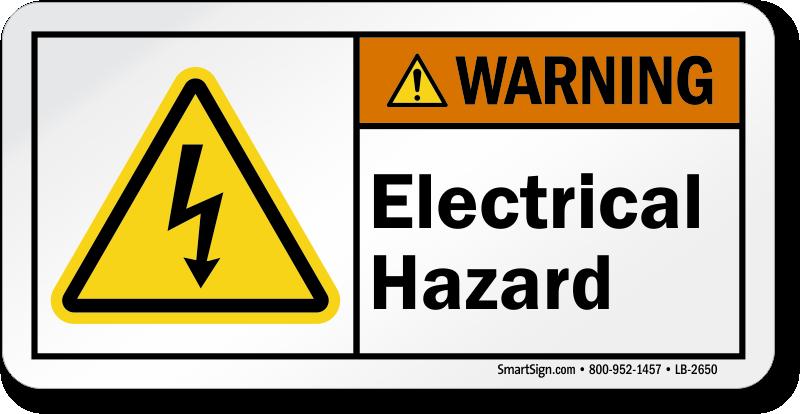 Electrical Hazard Labels Hazard Warning Labels