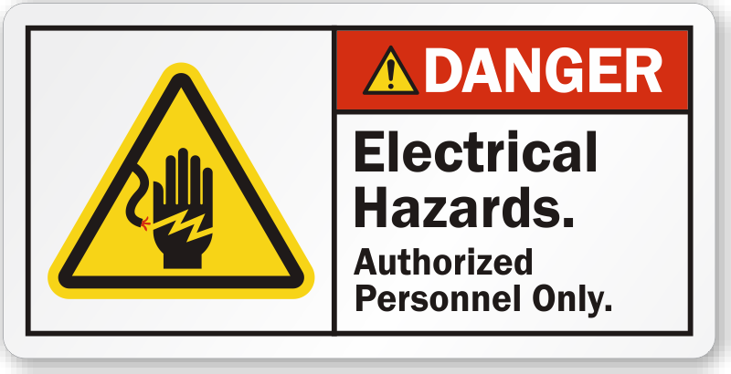 High Voltage Labels Danger Volts Stickers
