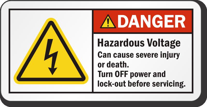 High Voltage Labels Danger Volts Stickers
