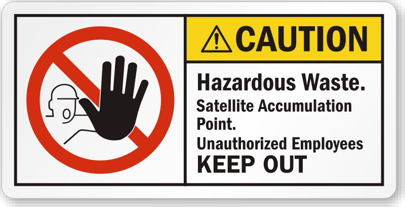 Hazardous Waste Satellite Accumulation Point Caution Label, SKU ...