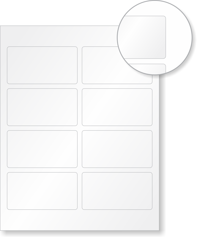 Clean image throughout printable labels sheets