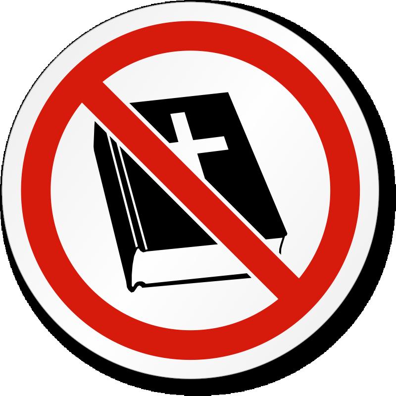 No Religion Symbol Iso Prohibition Safety Label Sku Lb