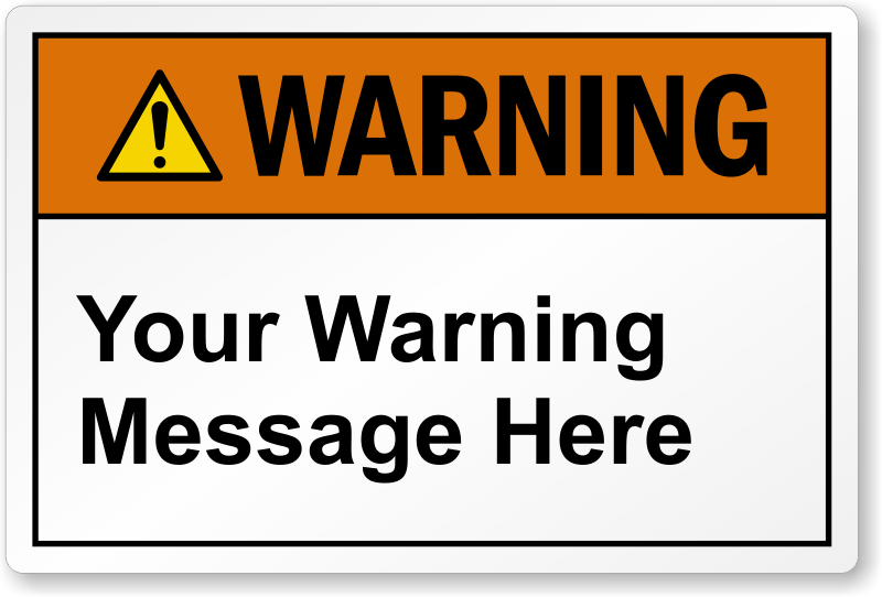 Custom Warning Labels Designs With Picto Qr Code Or