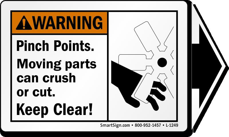 Moving Parts Can Crush Or Cut Ansi Warning Label Sku L 1249