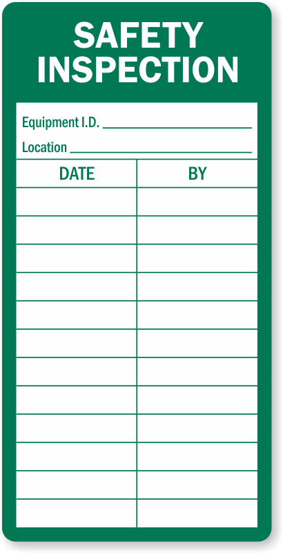 Electrical Safety Inspection Stickers : Safety inspection record label free delivery sku lb