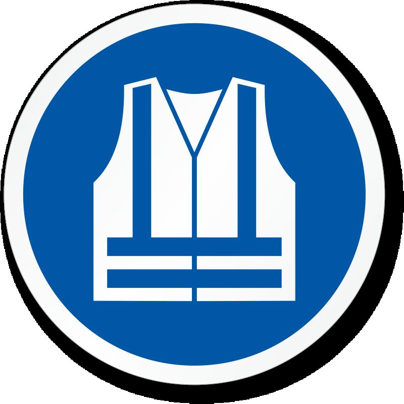 Wear High Visibility Vest Iso Mandatory Label Sku Lb 2962