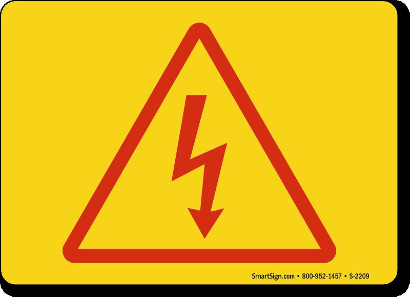 High Voltage Symbol : High voltage symbols electrocution and electric shock