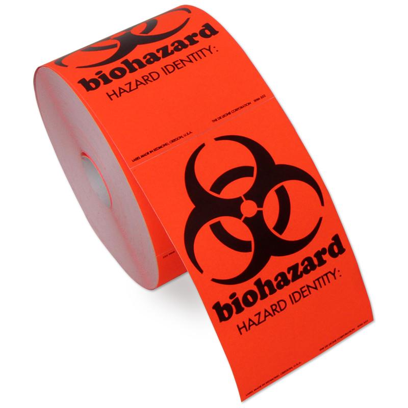 2 In. X 3.5 In. Biohazard Labels, SKU