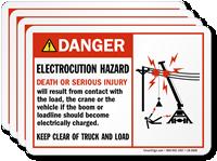 Electrocution Hazard Death Or Serious Injury Danger Label