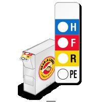 RTK Color Bar Labels, Vertical