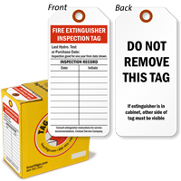 Fire Extinguisher Inspection Tag In A Box Sku T Box 088