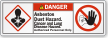 Asbestos Dust Hazard Authorized Personnel Only Danger Label