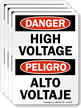 High Voltage, Alto Voltaje OSHA Danger Label