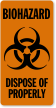 Biohazard Dispose Of Properly Label